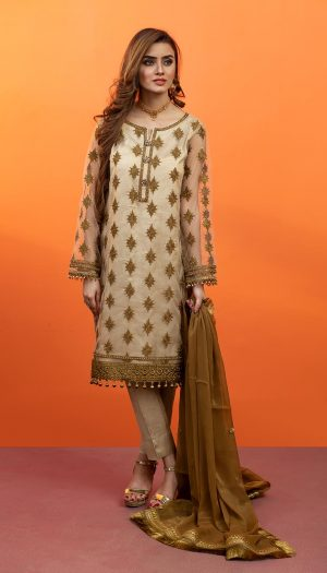Bronze Embroidered 3-Piece Suit