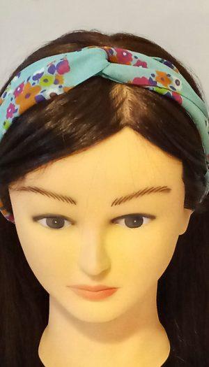 Sea Green Printed Crisscross Headband